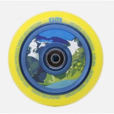 Elite Air Ride Aqua Scooter Wheels 110mm (Pair) - Yellow/Blue