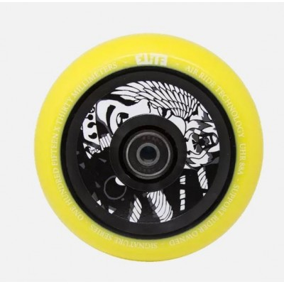 Elite X Supreme Air Ride Scooter Wheels 110mm (Pair) - Yellow/Black