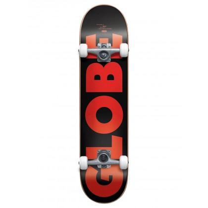"Globe G0 Fubar Black/Red Skateboard - 7.75"""