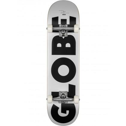 "Globe G0 Fubar White/Black Skateboard - 8.0"""