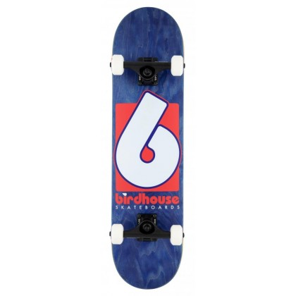 "Birdhouse Stage 3 B Logo Complete Skateboard - Navy/Red 7.75"""