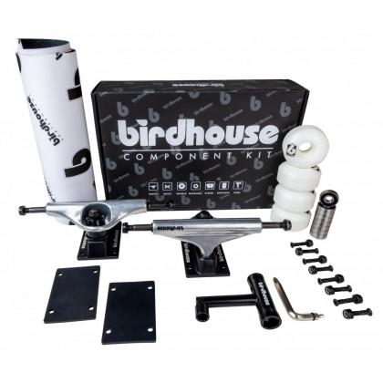 Birdhouse Skateboard Component Kit - Silver/Black