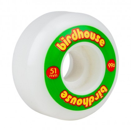 Birdhouse Logo 51mm Skateboard Wheels - Rasta