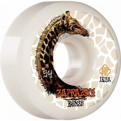 Bones STF V5 Sidecut Zaprazny Giraffe II Skateboard Wheels - White (Pack of 4)