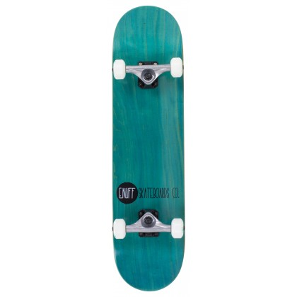 "Enuff Logo Stain Complete Skateboard - Teal 8"""