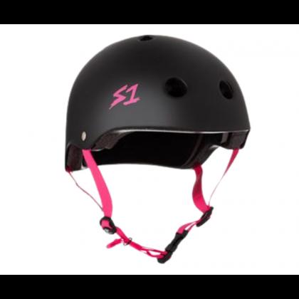 S One Lifer Helmet – Black Matt/Pink Straps