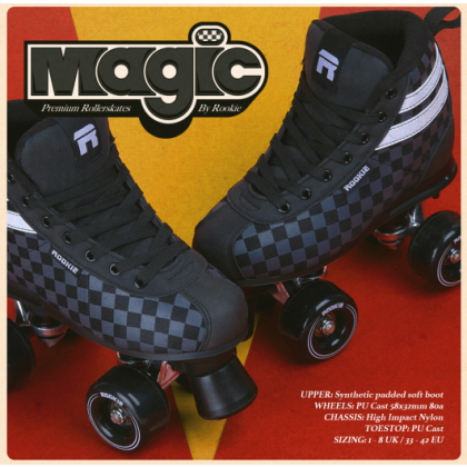 Rookie Magic Checker Roller Skates