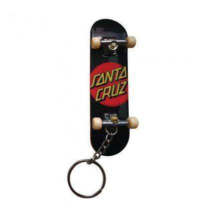 Santa Cruz Slasher Fingerboard Keychain - Black