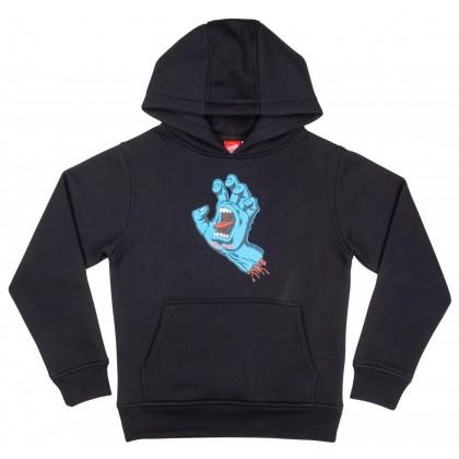 Santa Cruz Youth Hoodie Screaming Hand - Black