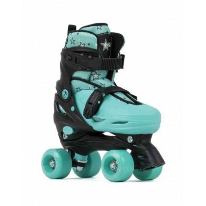 SFR Nebula Adjustable Quad Roller Skates - Black/Green