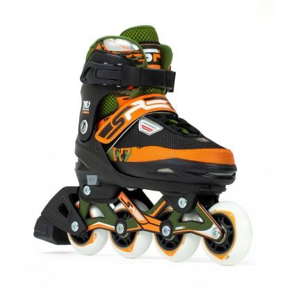 SFR Pixel Adjustable Inline Skates - Green / Orange