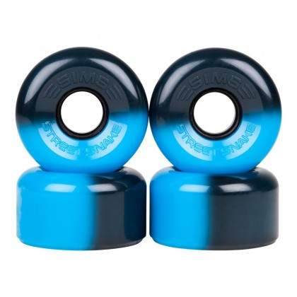 Sims Street Snakes 2tone  Quad Roller Wheels 78a (pk 4) - Blue/Black