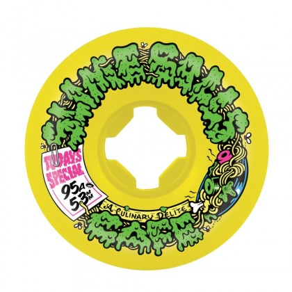 Slime Balls Double Take Cafe Vomit Mini Skateboard Wheels (Pack of 4) - Yellow Black